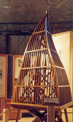 Photos du Compagnonnage trait de charpente, epures Gebaelk Modell