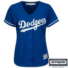 Women's Majestic Royal Los Angeles Dodgers Cool Base Replica Team Jersey