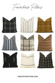 One Affirmation offers the largest selection of farmhouse pillows for the modern home. Shop our collection of designer & vintage pillows, an interior designers resource. Trade accounts welcome. Vintage Pillows, Vintage Textiles, Designer Pillow, Designer Throw Pillows, Pillow Cover Design, Pillow Covers, Cute Pillows, Boho Pillows, Leather Pillow