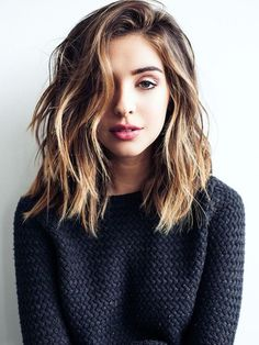 Textured ombre lob hairstyle