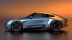 This Mission-E-Inspired Porsche 911 Gives Us Hope for an Electric Model Porsche Sports Car, Porsche 911, Mission E, Car Buyer, Bugatti Chiron, 911 Turbo, Futuristic Cars, Porsche Design, Maybach