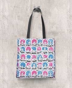 Glamorama - All-Over Printed Poly Tote Bag (White) – The Color Pop Shop #vintyfresh #tshirt #hairstyles #retro #vintage #thecolorpopshop #totebag