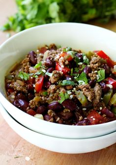 Clean Eating Bison Chili is so easy to make and so mouthwatering, your tastebuds will dance!