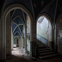 an abandoned castle in france