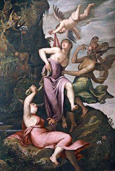 Jacopo Ligozzi (ca. 1547-1627), Allegory of Virtue; Love Defending Virtue against Ignorance and Prejudice, oil on canvas