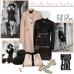 A fashion look from October 2014 featuring Tara Jarmon coats, Yves Saint Laurent pumps and See by Chloé shoulder bags. Browse and shop related looks.