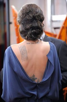 """Angelina Jolie tattoo """"know your rights"""""""