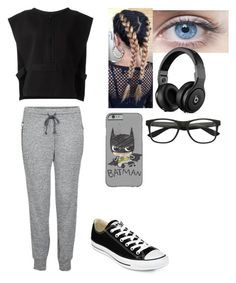 """Hating school rn"" by estrella216200 ❤ liked on Polyvore featuring adidas Originals, LnA, Converse, women's clothing, women's fashion, women, female, woman, misses and juniors"