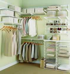 Гардеробная комната - использование системы ELFA в гардеробной