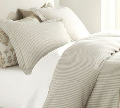 Bedding - beige and white