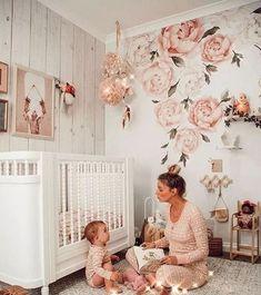 34 Jolie chambre de pépinière de jardin douce et féminine 10 | Glebemines.com