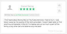 Another bunderful review to add to the bank! Treat your bunny today!!! #BunnyBox #BunnyTreats #BunnyToys