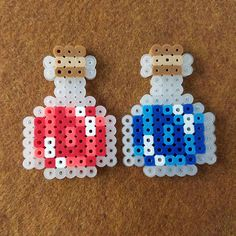 Perler Bead Health and Mana Potions Easy Perler Bead Patterns, Melty Bead Patterns, Perler Bead Templates, Diy Perler Beads, Perler Bead Art, Beading Patterns, Mosaic Patterns, Loom Patterns, Loom Beading
