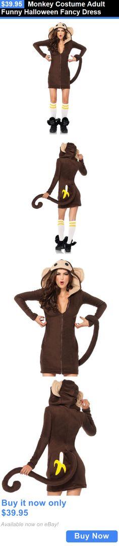 Halloween Costumes Women: Monkey Costume Adult Funny Halloween Fancy Dress BUY IT NOW ONLY: $39.95