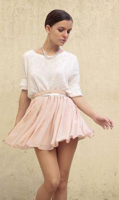 Zara shirt, Oasap skirt, H & M belt.