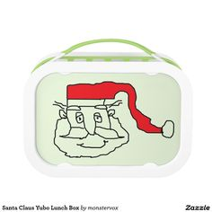 Santa Claus Yubo Lunch Box #SantaClaus #Holiday #Christmas #Merry #Tree #Xmas #Winter #Snow #Yubo #LunchBox