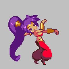 See more 'Shantae' images on Know Your Meme! Cool Pixel Art, Anime Pixel Art, Character Inspiration, Character Art, Character Design, Pixel Animation, Gifs, Video Game Characters, Pokemon Fan
