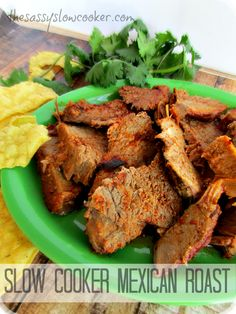 EASY Mexican Roast with only 2-ingredients made in the slow cooker!