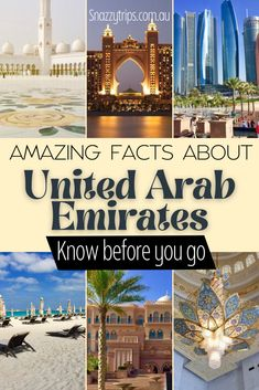 Amazing Facts About United Arab Emirates 18 Travel Guides, Travel Tips, Travel Info, Asia Travel, Travel Abroad, Wanderlust Travel, Driving In Italy, Backpacking Asia, Top Destinations