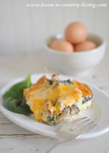 Spinach and Mushroom Breakfast Casserole
