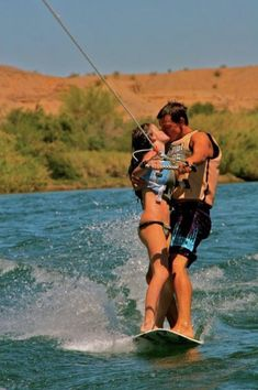 Marriage on a wakeboard anyone? The Kiss, Wakeboarding, Cute Relationships, Relationship Goals, All You Need Is Love, Let It Be, Romance, Youre My Person, Young Love