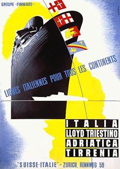Lloyd Triestino - Lignes italiennes pour tous les continents - 1948 - (Patrone) -