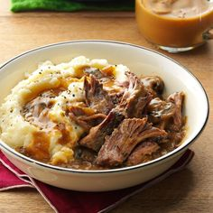 Slow Cooker Pot Roast Recipe -I work full time but love to make home-cooked meals for my husband and son. It's a comfort to walk in and smell this simmering roast that I know will be fall-apart tender and delicious. —Gina Jackson, Ogdensburg, New York