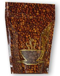 4 oz Coffee Bean Design - Standup Zipper Pouch