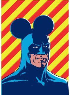 Disguised Batman.