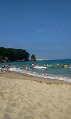 East sea coast beach. Donghae city.
