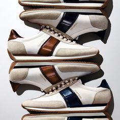THE NEW TOM FORD ORFORD SNEAKER | Canvas sneaker with calfskin detail.