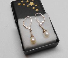 Alte 925er Silber  Ohrhänger  Ohrringer mit Perle von Schmuckbaron