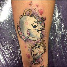 Tatuagens de A Bela e A Fera