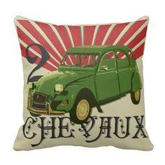Deux Chevaux Throw Pillow
