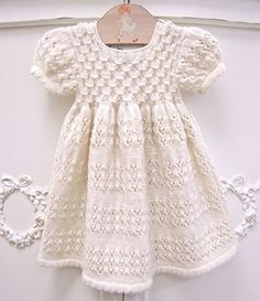 If there is a pattern, I can't find it but it is beautiful so I'm pinning it - Girls Knitting Girls Dress Models 123