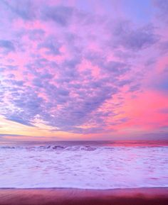 A magenta sky reflected in the sea ~