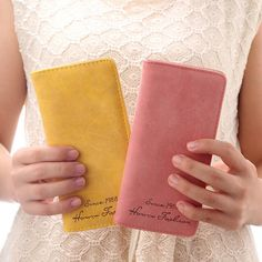 =>>Save onHandy Women Clutch Fashion PU Leather 2 Fold Wallets Female Long Wallet Fresh Coin Purses Lady Card
