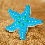 Star Fish Beach Theme Custom Edible Cookie Favors - Party Birthday Boy Girl Wedding Shower