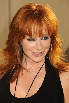 Reba Mcentire Redhead Hairstyles