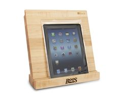 $89.95 iBlock Cutting Board with Stand  from John Boos via www.butcherblockco.com #kitchenspacesaving