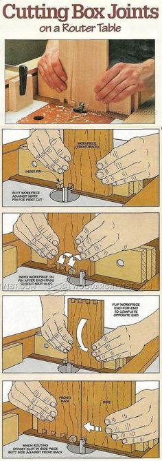 Cutting Box Joints - Joinery Tips, Jigs and Techniques | WoodArchivist.com #WoodworkingPlans