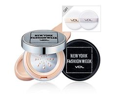 VDL 2016 NEWYORK FASHION WEEK Collection Special Limited Edtion  Beauty Metal Cushion Foundation Long Wearrefill A203  Silver Case with 2 Puffs * Be sure to check out this awesome product.