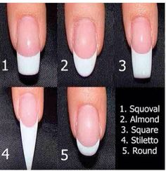 What's your shape? Pinned for Pink Pad, the women's health app with built-in social network. pinkpa.ad #nails #art #nail #shape