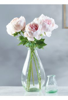 Six Faux Peony Stems - Faux Plants & Flowers - Decorative Home - Indoor Living
