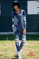 Jacheta moderna de dama cu design sport, marca FOGGI Denim Look, Overalls, Jackets, Collections, Fashion, Down Jackets, Moda, Fashion Styles, Jumpsuits