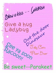 End your nursing home visits on a light note...use one of these cute sayings.