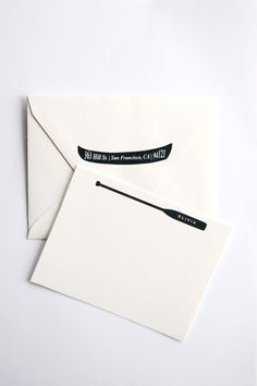 clever stationery // canoe and paddle // Inhaus Press