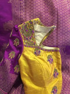 Global Market Leader in Ethnic World , We serve End to End Customizable indian Dreams That Reflect with Amazing Handmade Zardosi Art By Expert Workers , Worldwide Delivery Simple Blouse Designs, Silk Saree Blouse Designs, Bridal Blouse Designs, Purple Saree, Maggam Work Designs, Designer Blouse Patterns, Ethnic Design, Diana, Work Blouse
