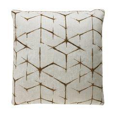 Dransfield & Ross gold outdoor pillow