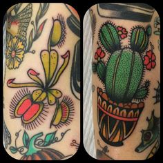 """""""A Venus flytrap in the ditch and a cactus to fill the last little spots on @narladean arm!! Thanks lady!!! X"""" Photo taken by @leonienewtattoos on Instagram, pinned via the InstaPin iOS App! http://www.instapinapp.com (06/10/2015)"""